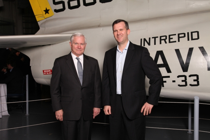 SECDEF Robert Gates & Don Mathis, CEO of Kinetic Social and Navy Officer