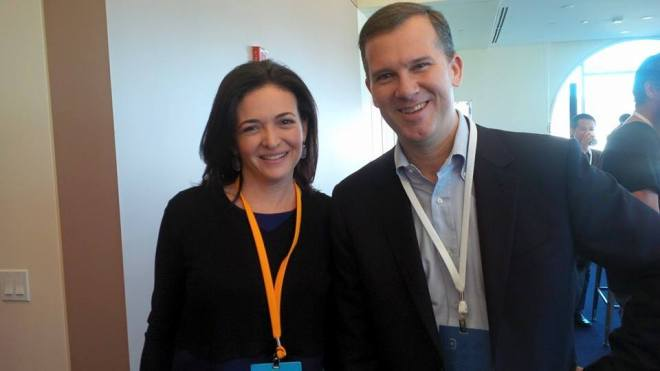 picture of don mathis and sheryl  sandberg